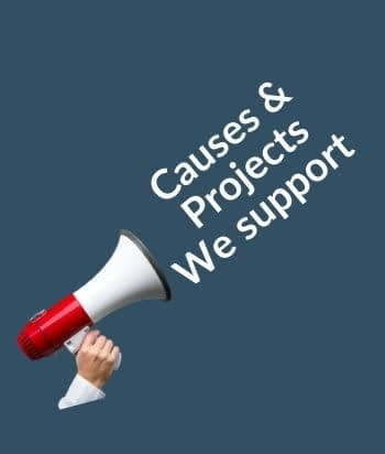 causes and projects we support